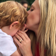 Julie Taton et son fils Côme (3 ans).