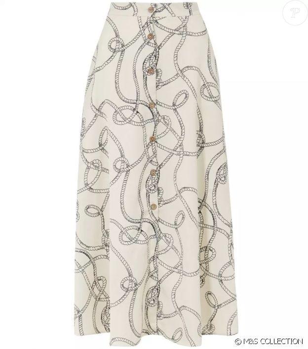 La jupe Marks & Spencer, double parfait de la dernière tenue de Meghan Marle portée en mars 2019.