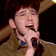 """Gjon's Tears dans """"The Voice 8"""" sur TF1, le 13 avril 2019."""