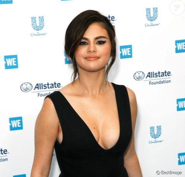 Selena Gomez à la soirée WE DAY California à Inglewood à Los Angeles, le 25 avril 2019.