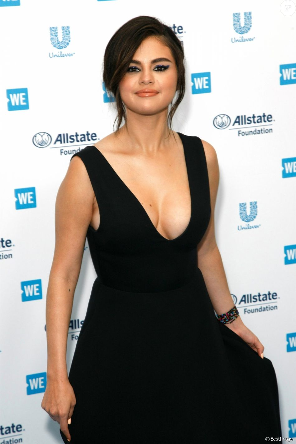 Selena Gomez à la soirée WE DAY California à Inglewood à Los Angeles, le 25 avril 2019.