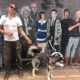 Pete Doherty et son chien. Octobre 2018.