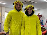 Louis Ducruet en Pikachu avec son frère Michaël pour son EVG, grosse ambiance !