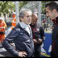 """Alain Prost - People lors de la 4ème édition du """"Paris ePrix"""" aux Invalides à Paris, qui compte pour le championnat FIA de Formule E. Le 27 avril 2019 © Alain Guizard / Bestimage"""