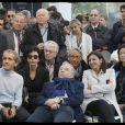 """Alain Prost, Rachida Dati, Jacques Toubon, Jean Todt, Elisabeth Borne, Anne Hidalgo, Jeanne d' Hauteserre - People lors de la 4ème édition du """"Paris ePrix"""" aux Invalides à Paris, qui compte pour le championnat FIA de Formule E. Le 27 avril 2019 © Alain Guizard / Bestimage"""