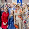 "Le roi Willem-Alexander, la reine Maxima et leurs filles, la princesse Catharina-Amalia, la princesse Alexia et la princesse Ariane - La famille royale des Pays-Bas lors du ""Kings Day Celebrations"" à Amersfoort. Le 27 avril 2019  Amersfoort, 26-04-2019 Royal family of Netherlands attends the Kings Day Celebrations.27/04/2019 - Amersfoort"