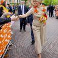 La reine Maxima des Pays-Bas lors des célébrations du King's Day à Amsfoort le 27 avril 2019 pour les 52 ans du roi Willem-Alexander des Pays-Bas.