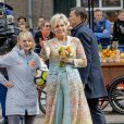La princesse Laurentien lors des célébrations du King's Day à Amsfoort le 27 avril 2019 pour les 52 ans du roi Willem-Alexander des Pays-Bas.