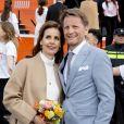 Le prince Pieter-Christiaan et sa femme la princesse Anita lors des célébrations du King's Day à Amsfoort le 27 avril 2019 pour les 52 ans du roi Willem-Alexander des Pays-Bas.