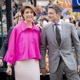 Le prince Maurits et sa femme la princesse Marilène lors des célébrations du King's Day à Amsfoort le 27 avril 2019 pour les 52 ans du roi Willem-Alexander des Pays-Bas.