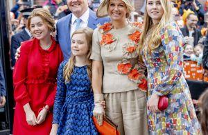Le roi Willem-Alexander fêté en famille, son héritière aussi grande que Maxima !