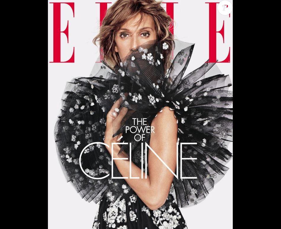 Céline Dion en couverture du magazine ELLE, version américaine, juin 2019