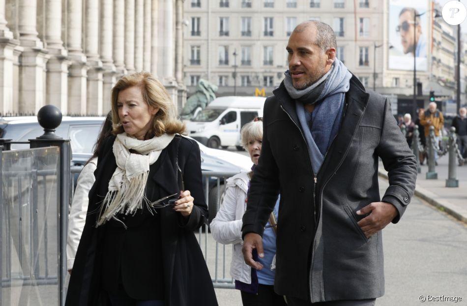 Exclusif - Valérie Trierweiler et Romain Magellan - Hommage à Julien Lauprêtre à l'Hôtel de ville de Paris le 2 mai 2019. © CVS/Bestimage