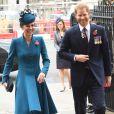 Le prince Harry, duc de Sussex et Kate Catherine Middleton, duchesse de Cambridge - Arrivées de la famille royale d'Angleterre en l'abbaye de Westminster à Londres pour le service commémoratif de l'ANZAC Day. Le 25 avril 2019
