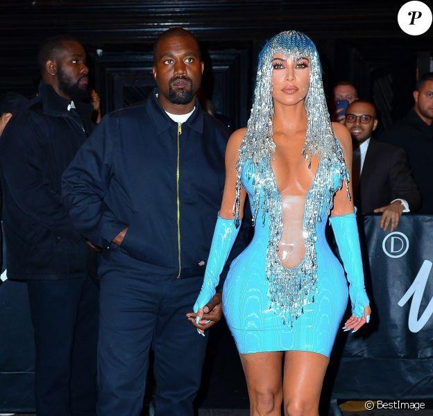 """Kim Kardashian et son mari Kanye West arrivent à l'""""Up and Down"""" pour l'after-party du 71e Gala à New York, le 6 mai 2019. © Morgan Dessalles/Charles Guerin/Bestimage"""