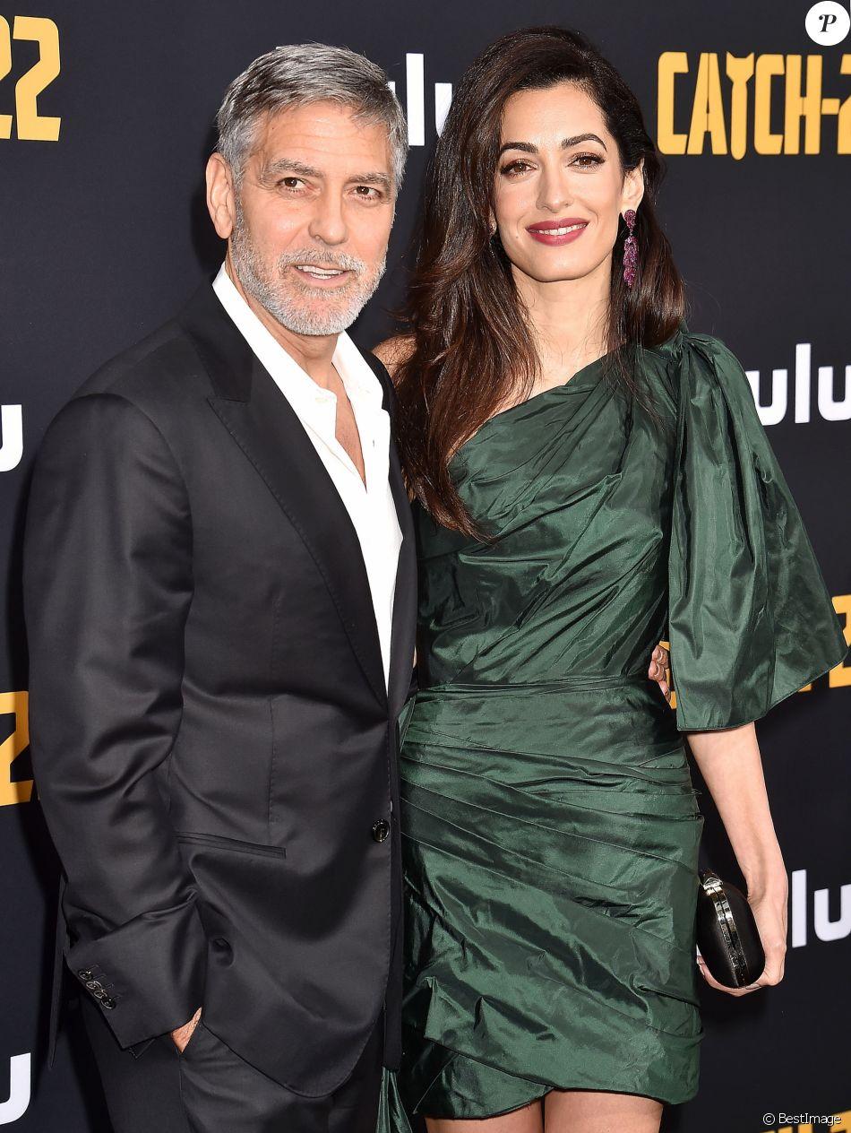 """George Clooney et sa femme Amal Clooney - Avant-première et soirée de présentation de la nouvelle série Hulu """"Catch-22"""" à Hollywood, Los Angeles, le 7 mai 2019."""