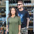 "Christina Milian et son compagnon Matt Pokora (M. Pokora) font du shopping chez ""Wally's"" à Beverly Hills. Los Angeles, le 15 novembre 2018."