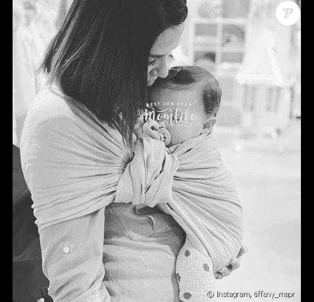 """Tiffany de """"Mariés au premier regard"""" et sa fille Romy - Instagram, 4 avril 2019"""