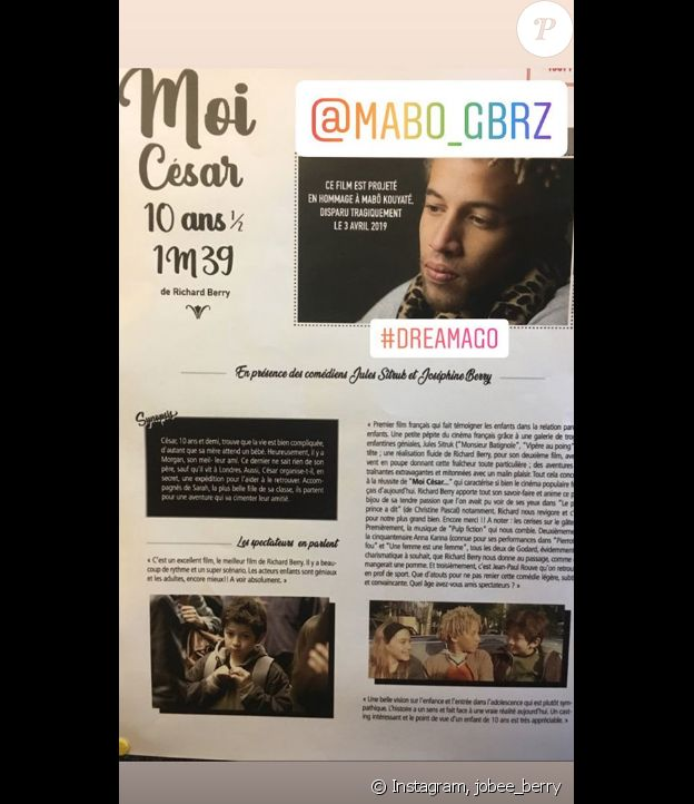 Joséphine Berry sur Instagram- 12 mai 2019.