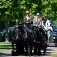 Lady Louise Windsor lors d'une compétition d'attelage au Royal Windsor Horse Show à Windsor le 12 mai 2019.