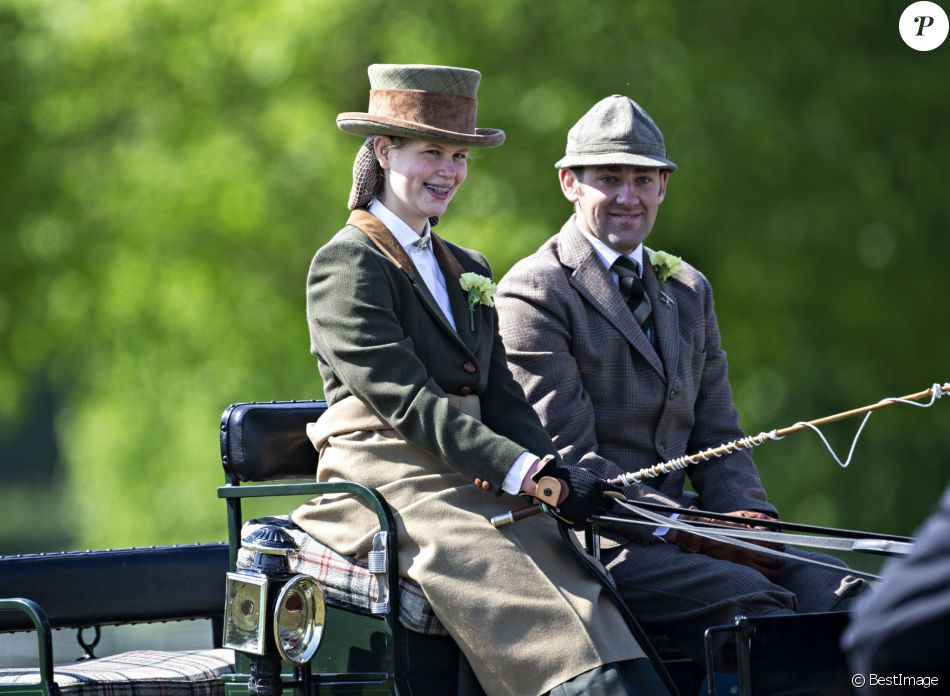 Lady Louise Windsor lors du Champagne Laurent-Perrier Meet of the British Driving Society au Royal Windsor Horse Show à Windsor, le 11 mai 2019.