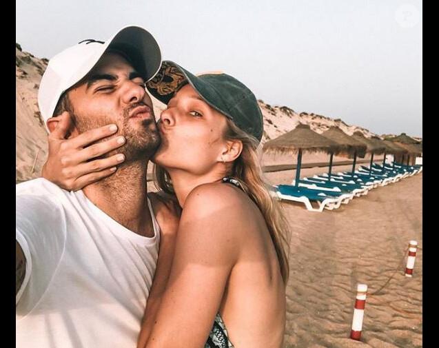 Ilona Smet pose avec son chéri Kamran Ahmed sur Instagram le 26 août 2018.