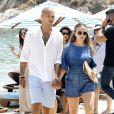 Chloe Green passe ses vacances avec son compagnon Jeremy Meeks, son père Philip Green et sa femme Tina à Mykonos en Grèce le 28 juillet 2018.