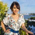 Exclusif - Fabienne Carat avant de monter les marches du 72ème Festival du Film de Cannes, sur la terrasse de Sandra & Co, préparation maquillage et coiffure par Lamia et Soraya à Cannes, le 16 mai 2019. © Pierre Perusseau / Bestimage
