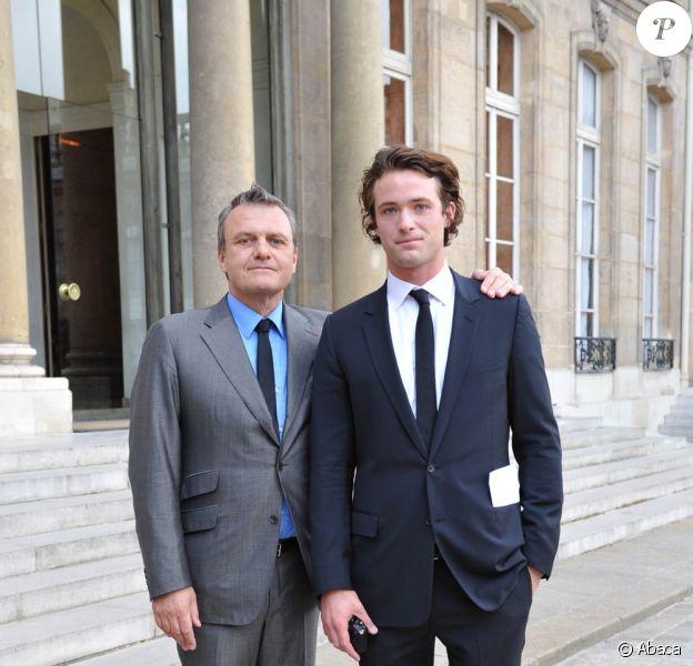 Jean-Charles de Castelbajac et son fils Louis-Marie (alias Kallean)