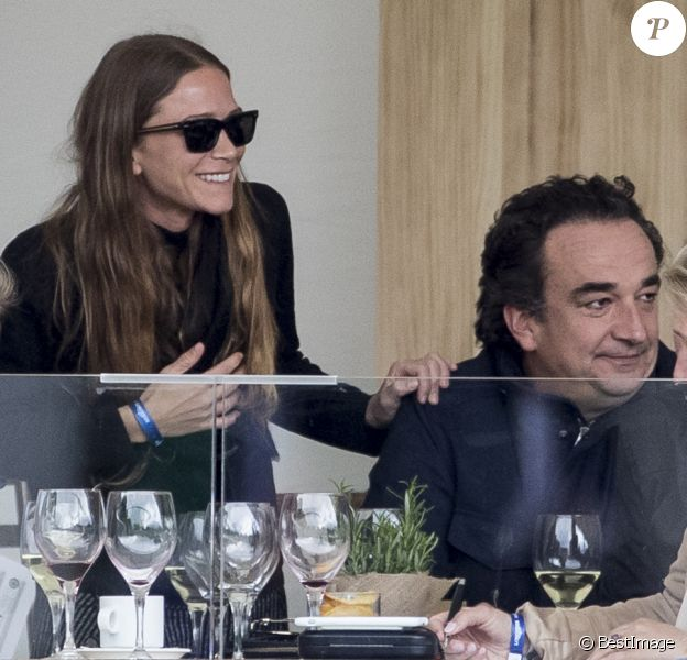 Olivier Sarkozy et sa femme Mary-Kate Olsen assistent au Global Champions Tour CSI2 Madrid 2019, Madrid, le 17 mai 2019.