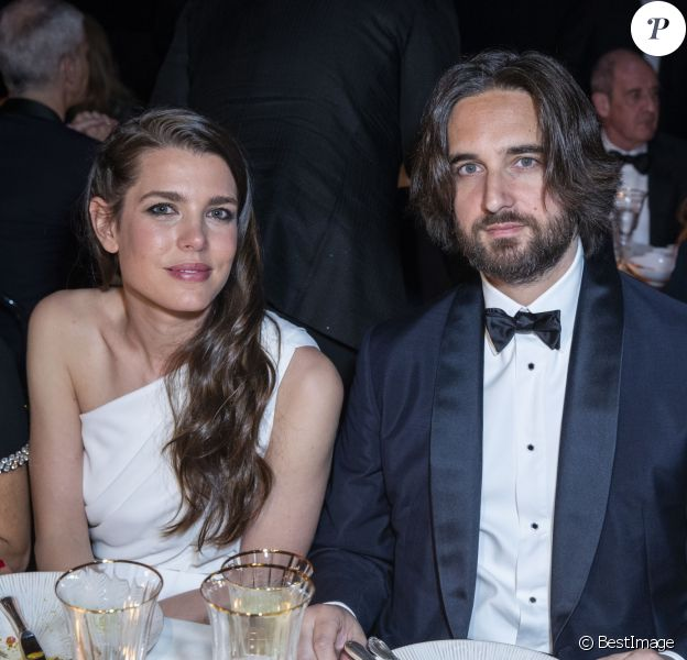 """Charlotte Casiraghi et son fiancé Dimitri Rassam - Soirée Kering """"Women In Motion Awards"""" lors du 72ème Festival International du Film de Cannes le 19 mai 2019. © Olivier Borde/Bestimage"""