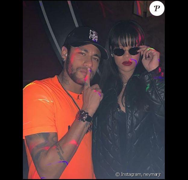 Neymar en soirée avec Rihanna à l'Arc, à Paris, le 19 mai 2019.