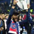 Neymar JR. - Le PSG célèbre son titre de Champion de France 2019 au Parc ders Princes à Paris, le 18 mai 2019.