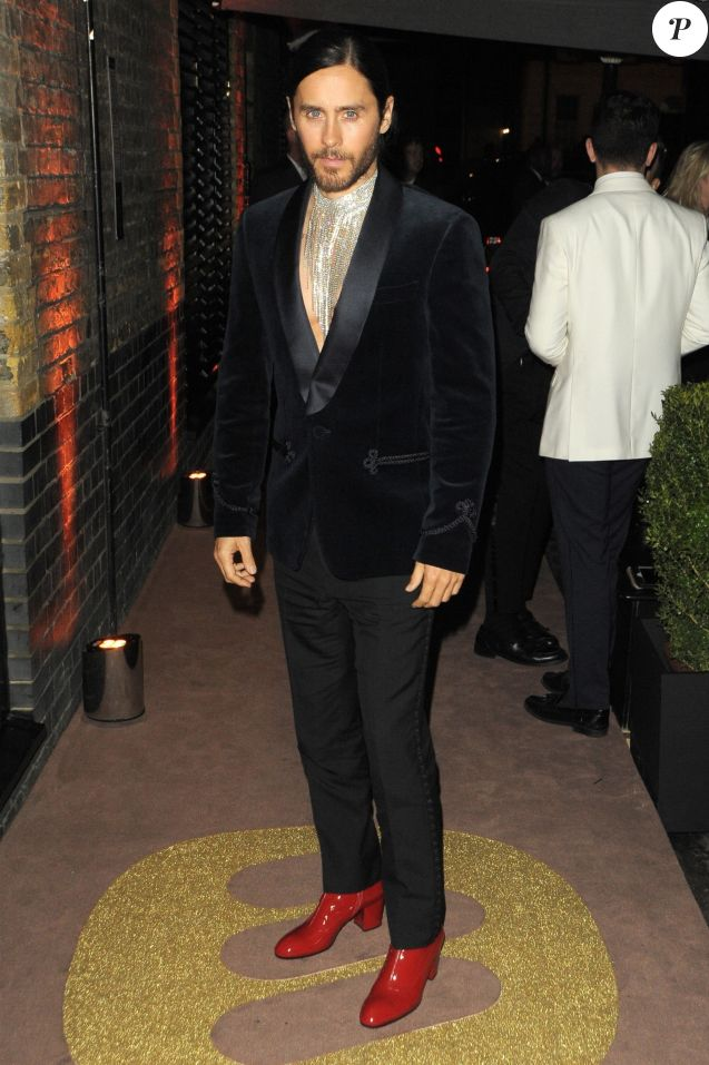 "Jared Leto - Arrivées à l'afterparty Warner des ""BRIT Awards"" au Chiltern Firehouse à Londres. Le 20 février 2019"