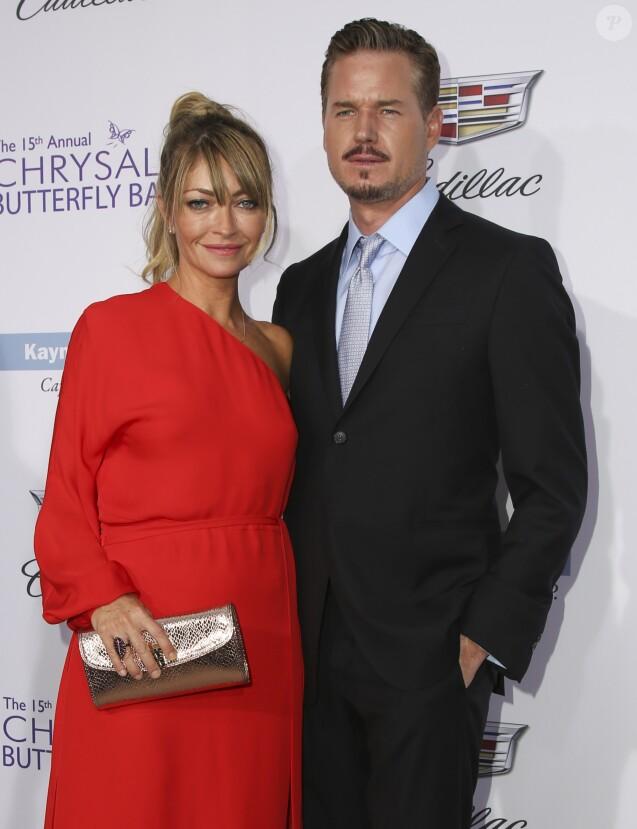 """Rebecca Gayheart avec son mari Eric Dane arrivent au 15ème """"Chrysalis Butterfly Ball"""" à Brentwood, Los Angeles. Le 11 juin 2016."""