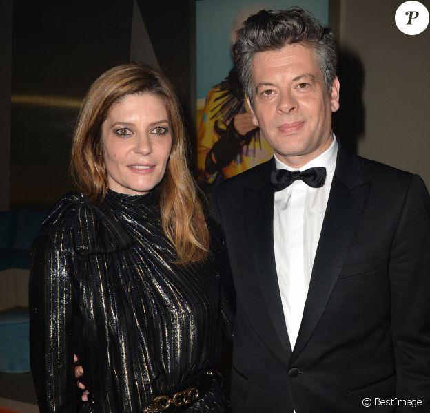 """Chiara Mastroianni et Benjamin Biolay - After party du film """" Chambre 212 """" sur la plage Magnum lors du 72ème Festival International du Film de Cannes le 19 mai 2019. © Veeren/Bestimage19/05/2019 - Cannes"""