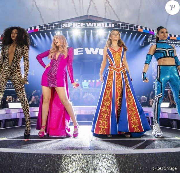 Les Spice Girls en concert à Dublin à l'occasion du Spice World Tour, le 24 mai 2019.