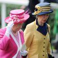 Elizabeth II et la princesse Anne au Royal Ascot. 17/06/09