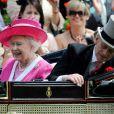 La reine Elizabeth II au Royal Ascot. 17/06/09