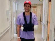 """Amir hospitalisé et plâtré après une chute de scène : """"La nuit fut longue"""""""