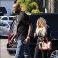 Exclusif - Lamar Odom est allé déjeuner avec une mystérieuse inconnue à Los Angeles, le 17 mai 2018
