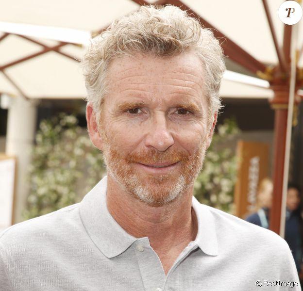 Denis Brogniart au village lors des internationaux de France de tennis de Roland Garros, Jour 3, à Paris le 29 mai 2018.