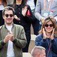 Mylène Jampanoï et son compagnon Dimitri Stephanides dans les tribunes de Roland-Garros à Paris, le 29 mai 2019. © Jacovides-Moreau/Bestimage