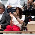 David Douillet et sa femme Vanessa dans les tribunes de Roland-Garros à Paris, le 29 mai 2019. © Jacovides-Moreau/Bestimage