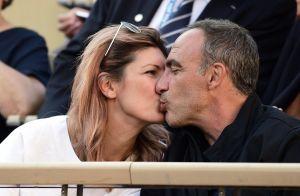 Nikos Aliagas et Tina Grigoriou amoureux : baisers et complicité en tribunes