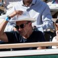 Nikos Aliagas et sa femme Tina dans les tribunes lors des internationaux de tennis de Roland Garros à Paris, France, le 31 mai 2019. © Jacovides-Moreau/Bestimage