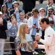 Roger Federer et Marion Bartoli lors des Internationaux de France de Tennis de Roland Garros 2019 à Paris, France, le 29 mai 2019 © Jacovides-Moreau/Bestimage
