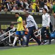 Neymar lors du match amical Brésil-Qatar au  Mane Garrincha stadium de Brasilia, le 5 juin 2019.