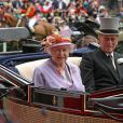 Meeting Royal d'Ascot 2009 : Elizabeth II d'Angelterre et le prince Philip