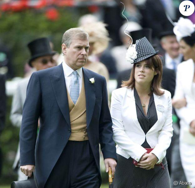 Meeting royal d'Ascot 2009 : la princesse Eugenie d'York et son père le duc Andrew
